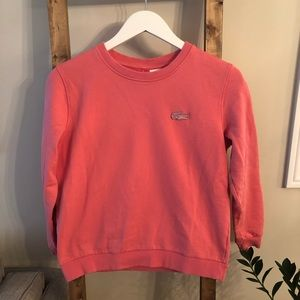 Lacoste Women's Pink Sweatshirt Size Medium